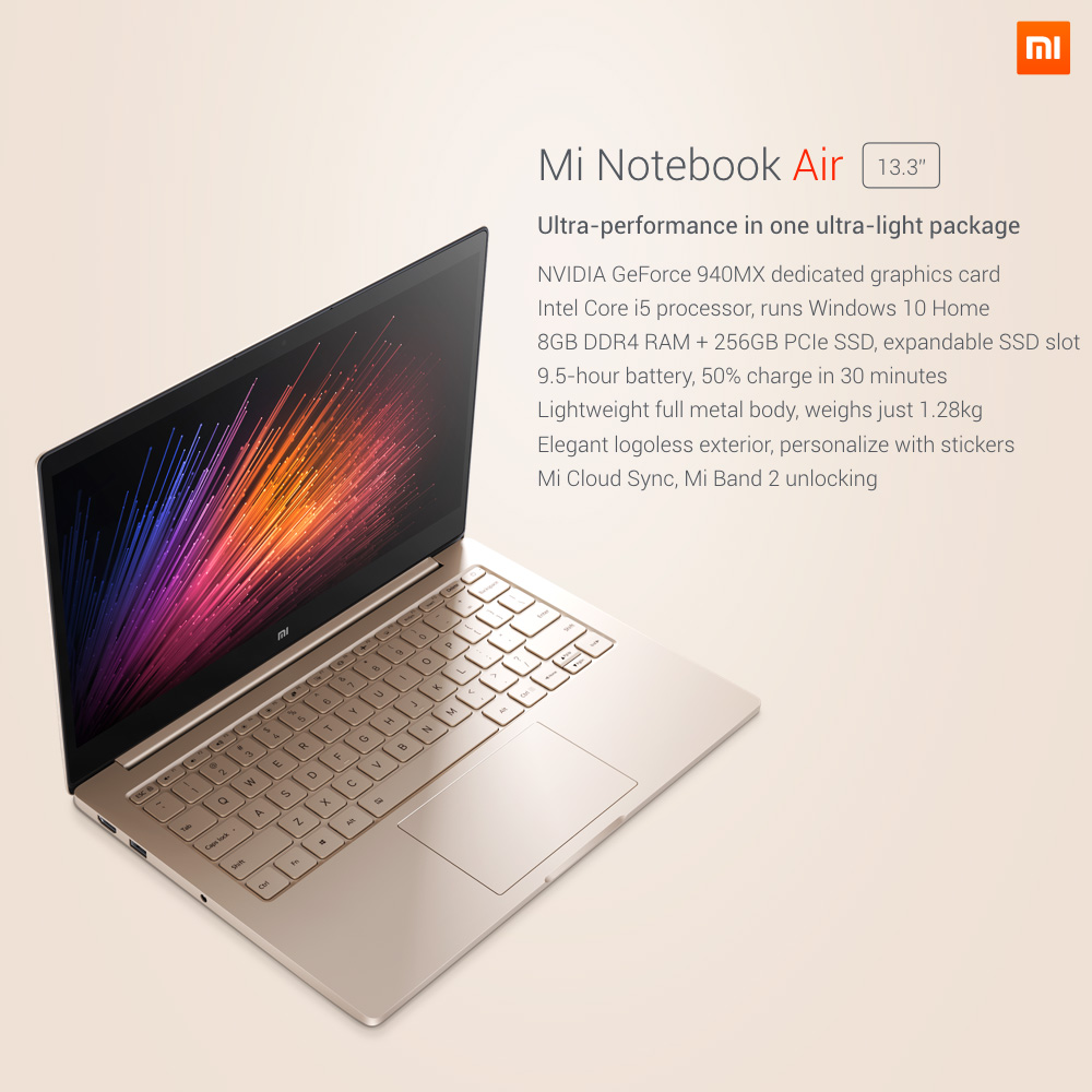 mi notebook air 13 inch שיומי